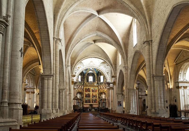 собор внутри ступицы valencia стоковое фото rf