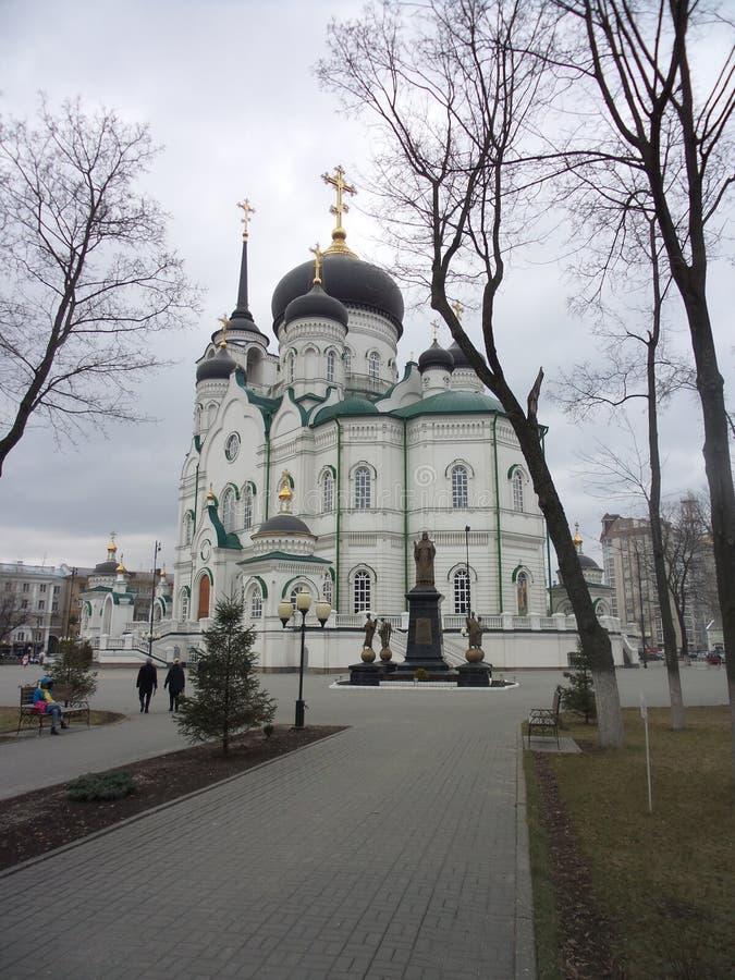 Собор Воронеж аннунциации предыдущая весна стоковое фото