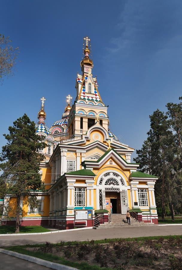 Собор восхождения в Алма-Ате стоковые изображения rf