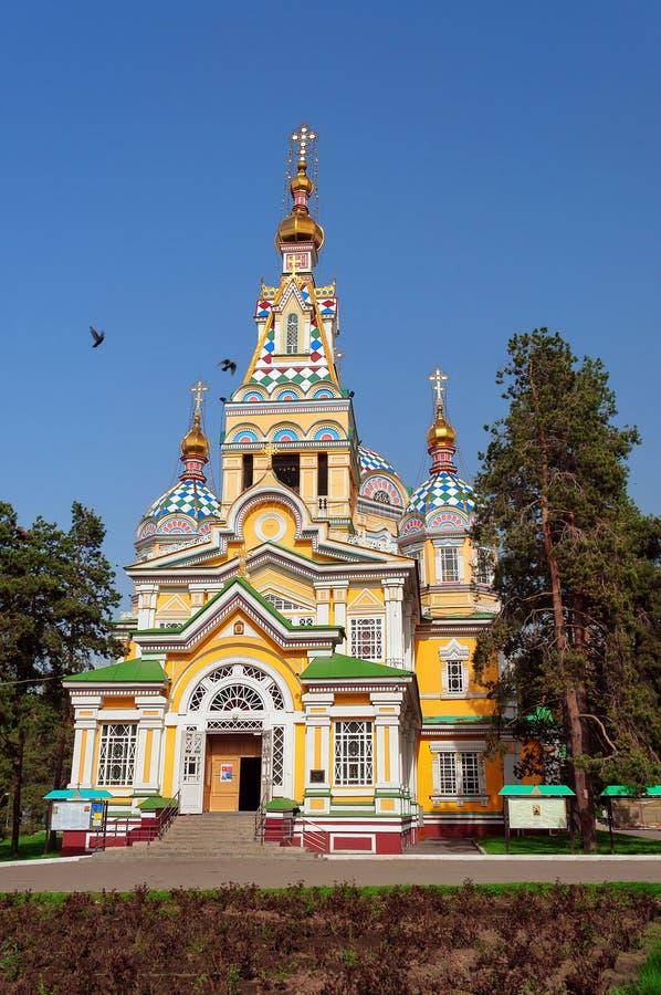 Собор восхождения в Алма-Ате стоковые фотографии rf