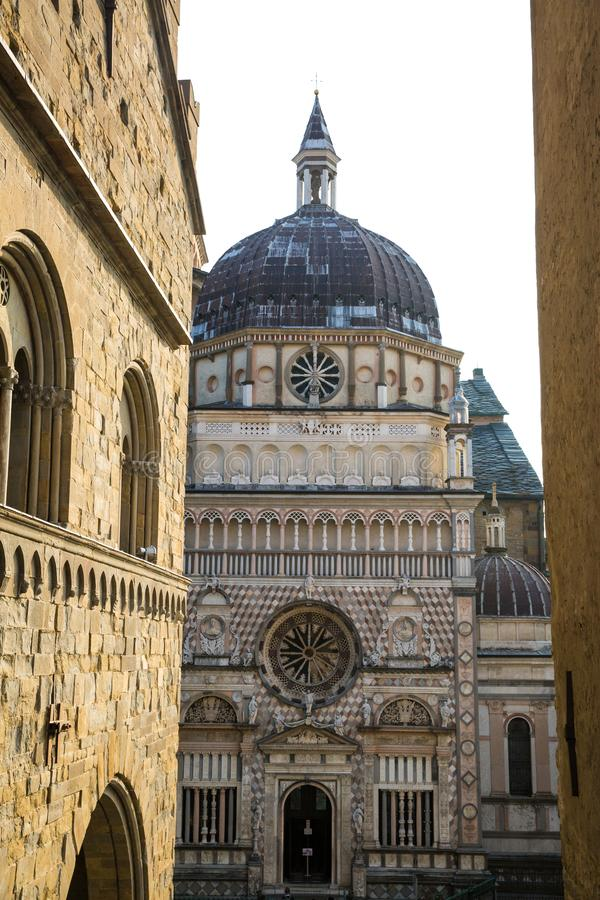 Собор в Бергаме, Италии стоковое фото rf