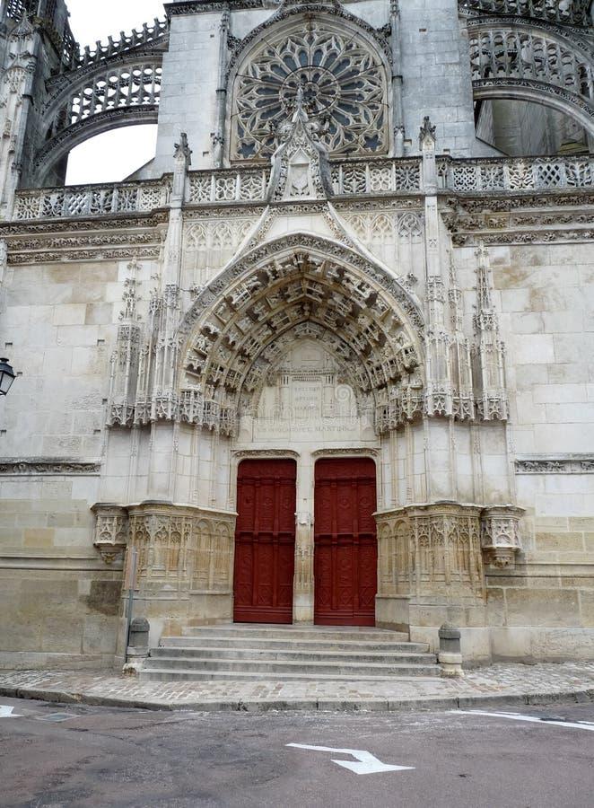Собор в Бурже, Франции стоковая фотография rf