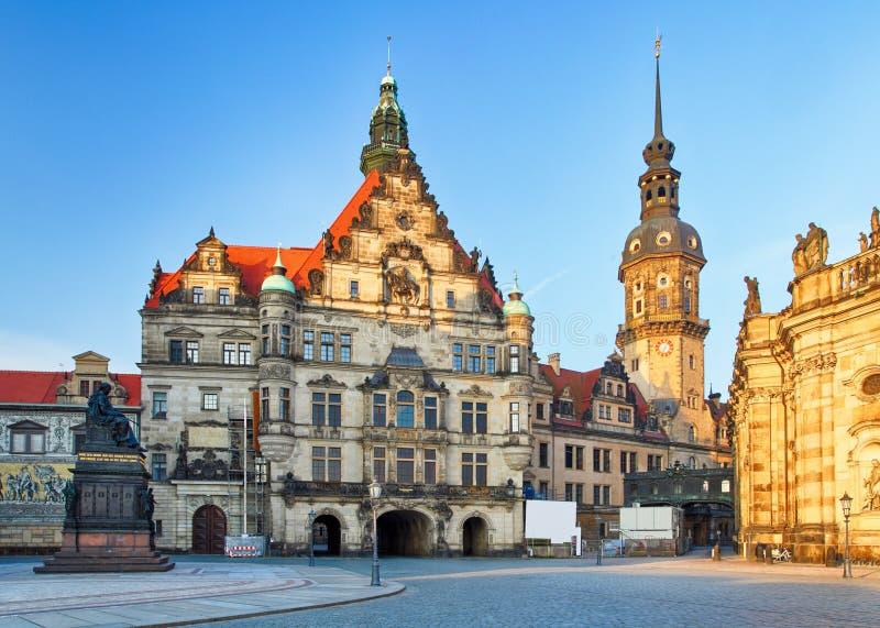 Собор в Дрездене; Германия, Европа стоковая фотография rf