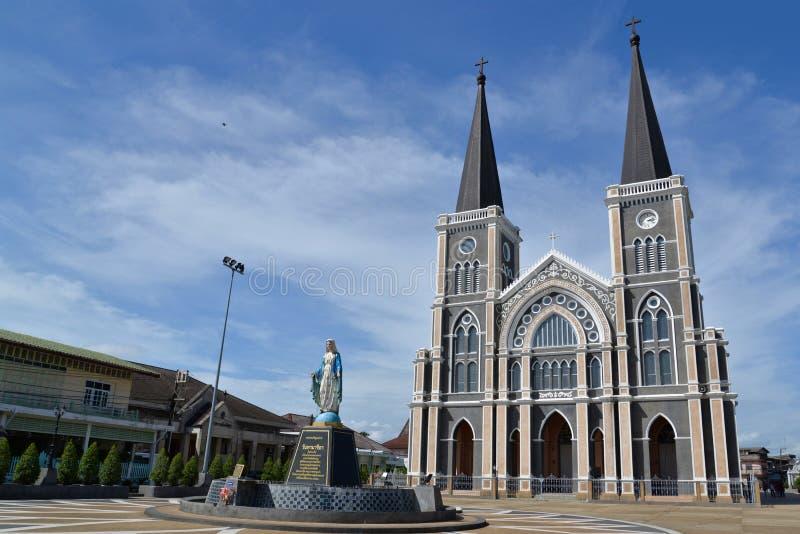 Собор в Chanthaburi, Таиланде стоковое изображение