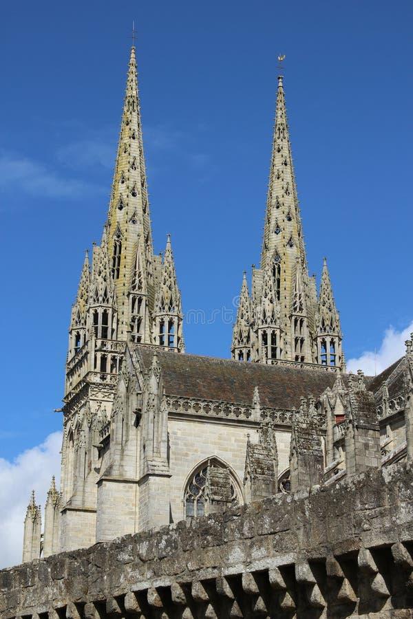 Собор в quimper, Франции стоковое изображение rf