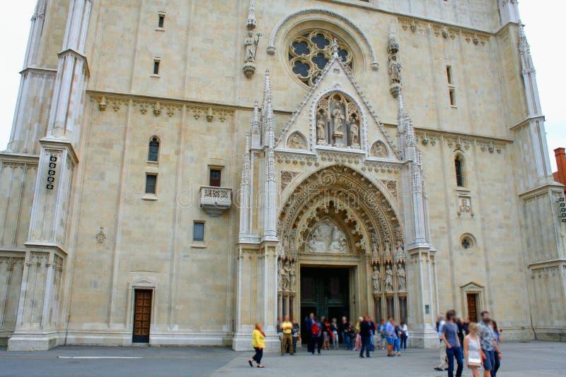 Собор Загреба на Kaptol римско-католические заведение и n стоковые изображения