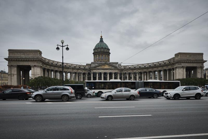 Собор Казани на Санкт-Петербурге стоковая фотография rf