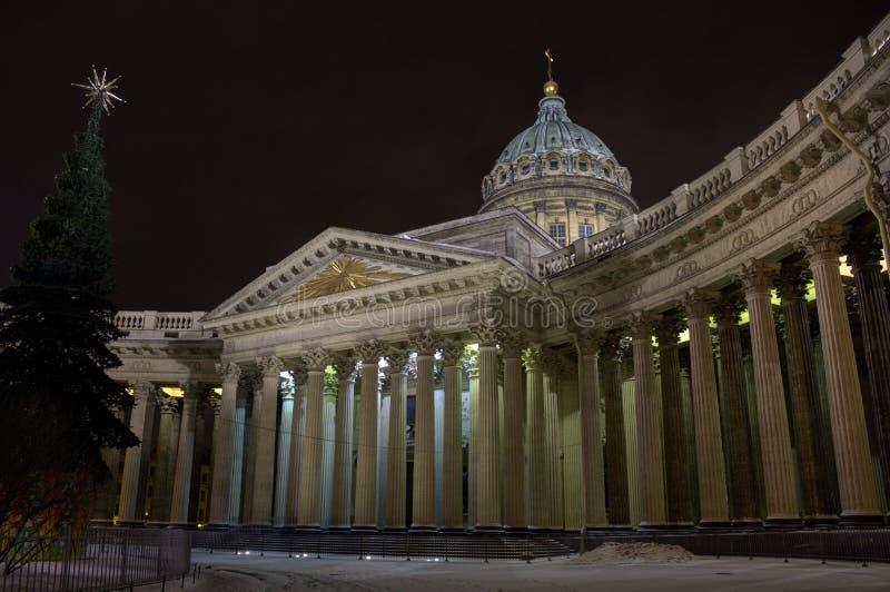 Собор Казани, Санкт-Петербург, Россия стоковое изображение rf