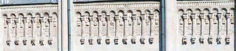 Собор камня высекая, Владимира St Demetrius, России стоковые фото