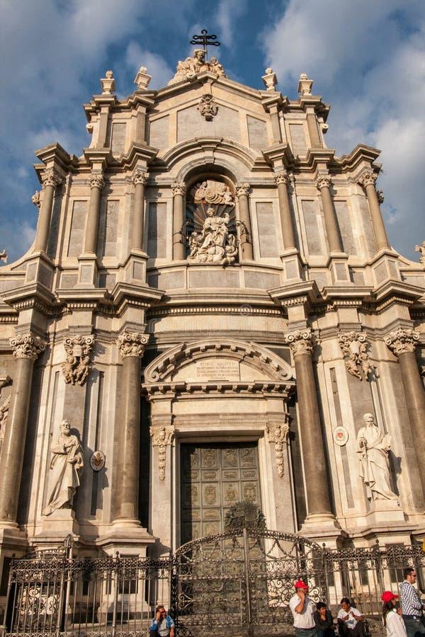 Собор Катании, Сицилия стоковая фотография rf