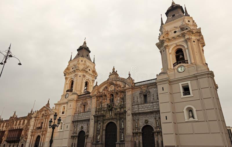 Собор Лимы - мэр площади, Лима стоковые фотографии rf