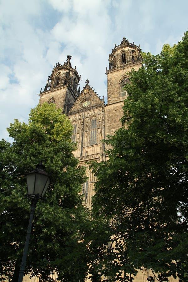 Собор Магдебурга в Магдебурге Саксония-Anhalt стоковые фотографии rf