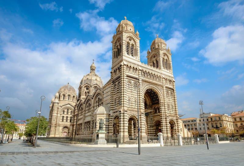 Собор марселя Cathedrale Sainte Мари Majeure марсель Франции стоковые изображения rf