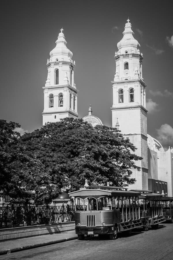 собор Мексика campeche стоковое фото rf