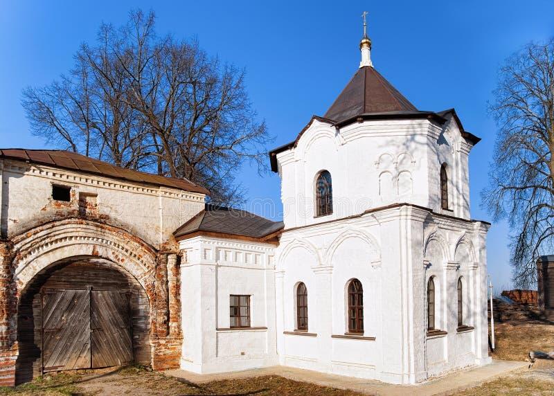 Собор монастыря женщин Теодор Stratelates Feodorovsky в городке Pereslavl Zalessky в обла стоковое фото rf