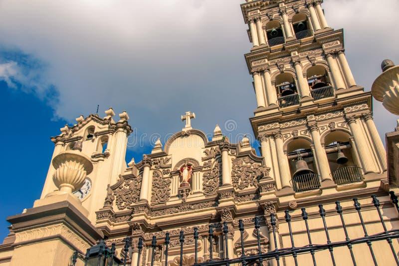 Собор Монтеррея Мексики стоковое фото rf