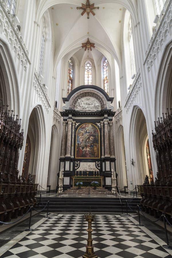 Собор нашей дамы в Антверпене - Бельгии стоковая фотография
