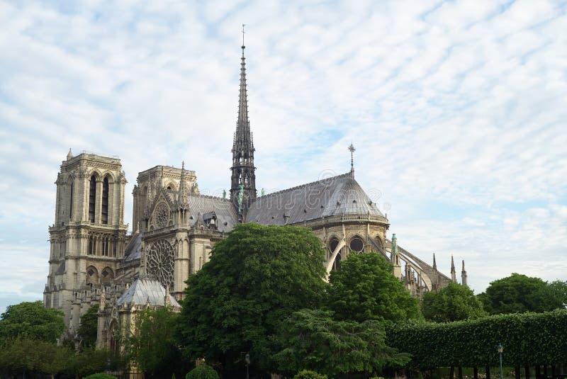 Собор Нотр-Дам, Парижа, франция стоковое изображение
