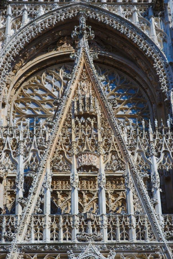 Собор Нотр-Дам Руана деталь Западный фасад стоковая фотография rf