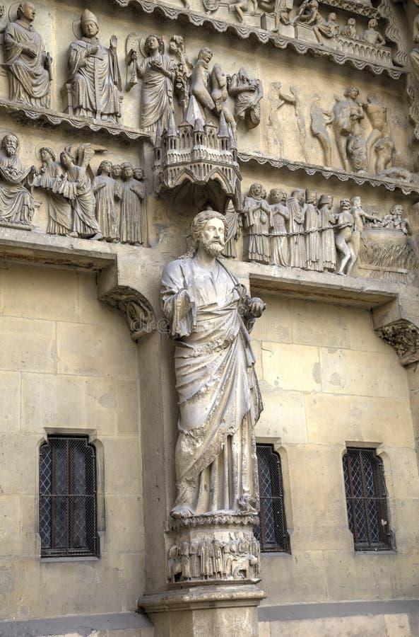 Собор Нотр-Дам de Реймса картины иллюстраций элементов конструкции украшения просто Франция reims стоковые фотографии rf