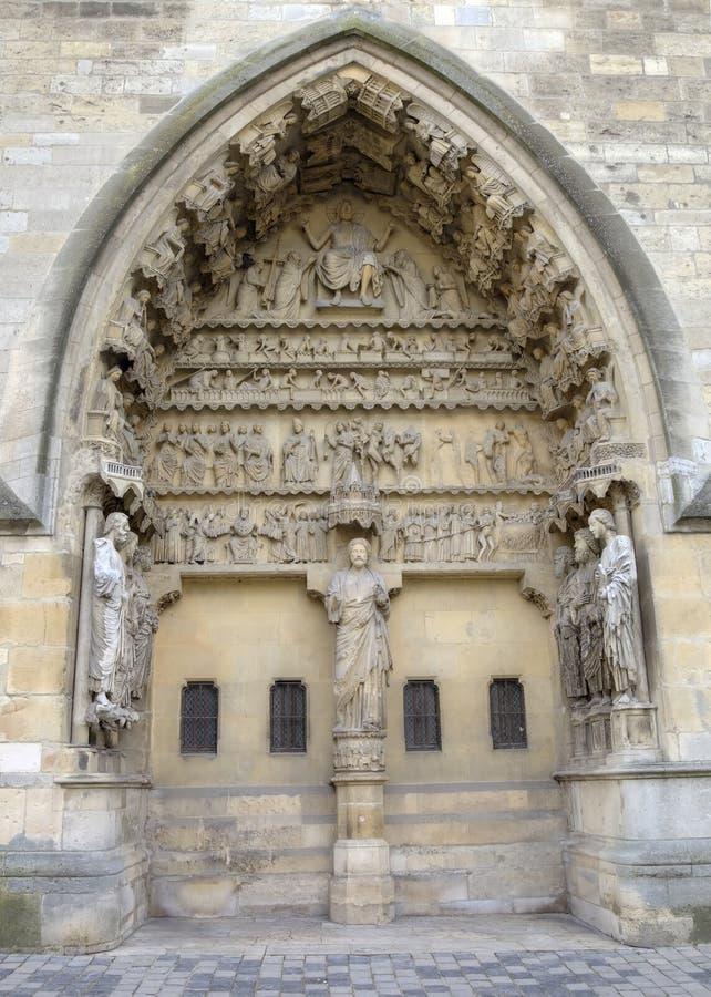 Собор Нотр-Дам de Реймса картины иллюстраций элементов конструкции украшения просто Франция reims стоковое фото rf