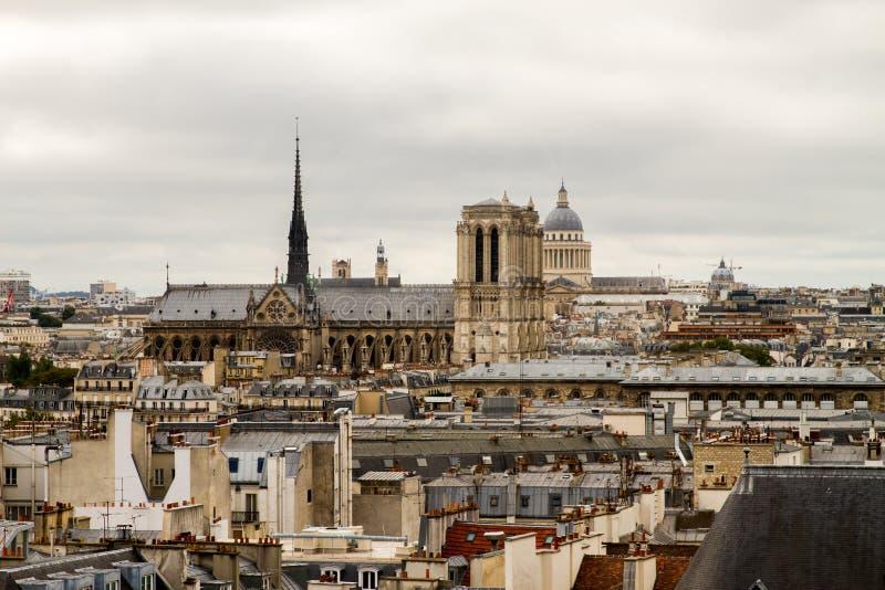 Собор Париж Нотр-Дам стоковое изображение rf
