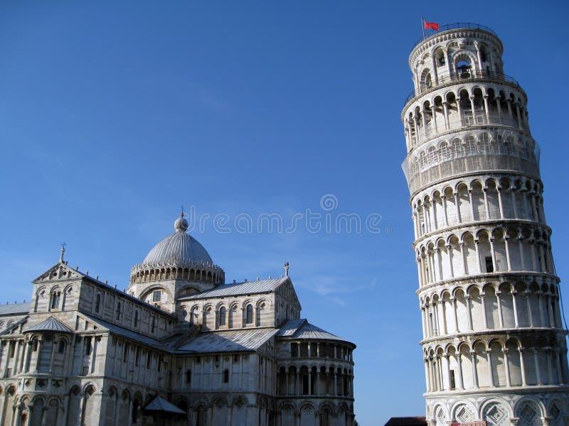 собор полагаясь башня pisa стоковое фото