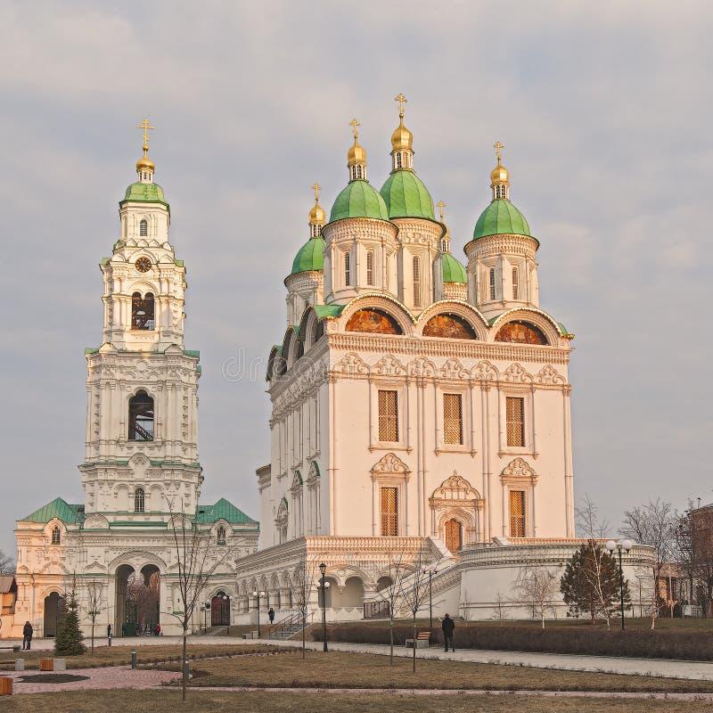Собор предположения благословленной девой марии ` Кремль Астрахани Россия стоковое фото