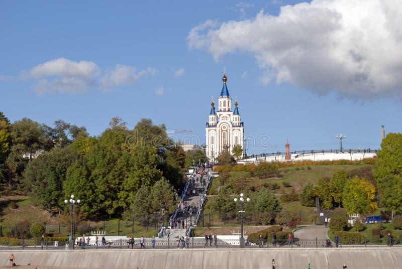 Собор предположения благословленной девственницы Khabarovs стоковая фотография