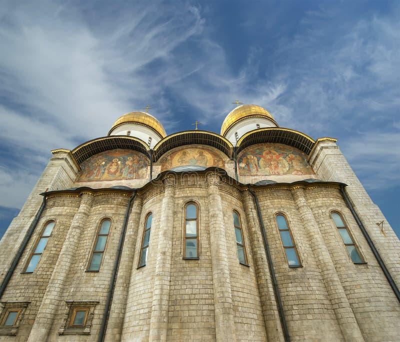 Собор предположения (было место коронования русских царей), Москва Кремль стоковое фото rf