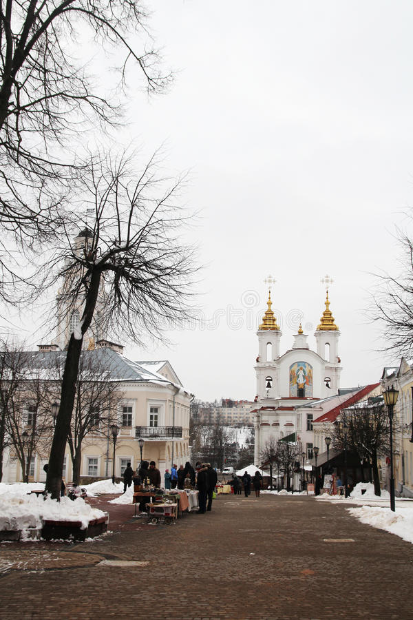 Собор предположения Витебска, Беларусь стоковые изображения