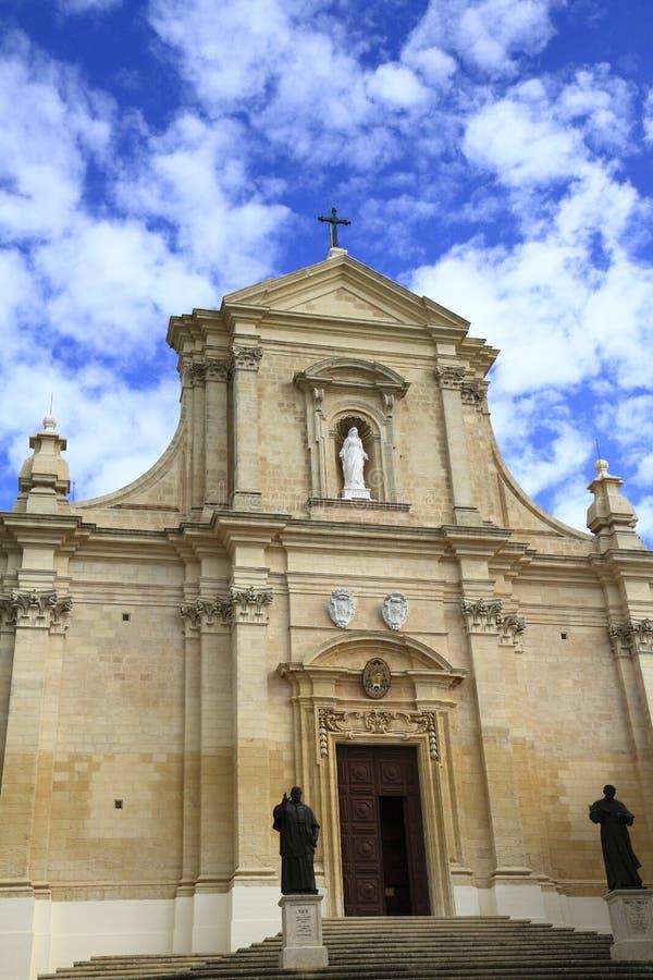 Собор предположения Gozo, Мальты стоковые изображения