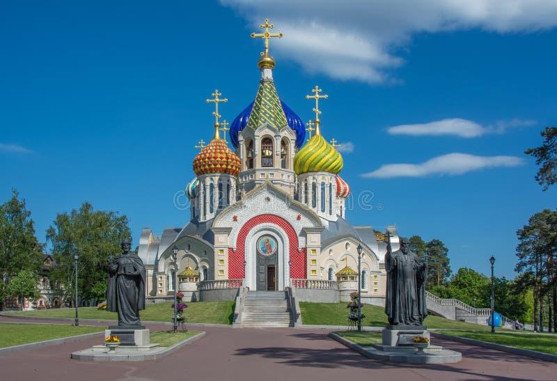 Собор принца Игоря Chernigovsky Святого в новой зоне России Peredelkino Москвы стоковое изображение