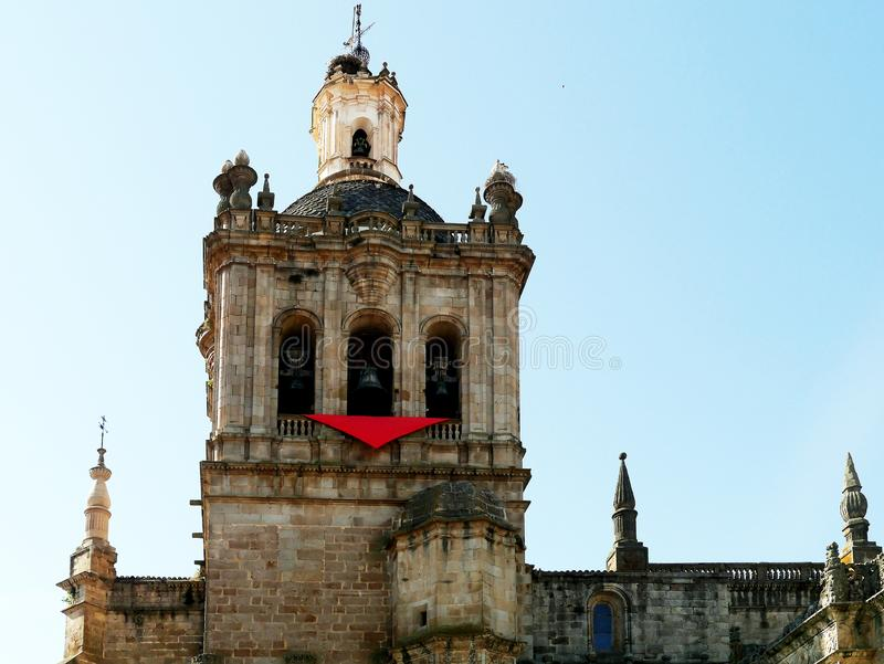 Собор Санта María de Ла Asunción, Coria, эстремадуры, Испании стоковые фото