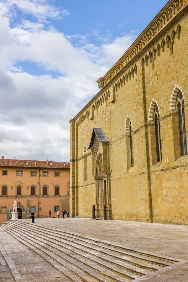 Собор Сан Donato в историческом центре Ареццо стоковое фото rf