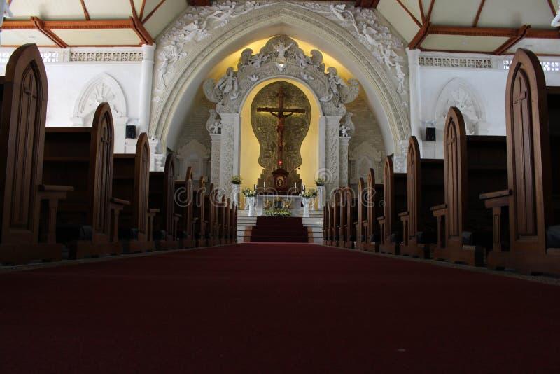 Собор святого духа католической церкви в Бали красивейше стоковое изображение