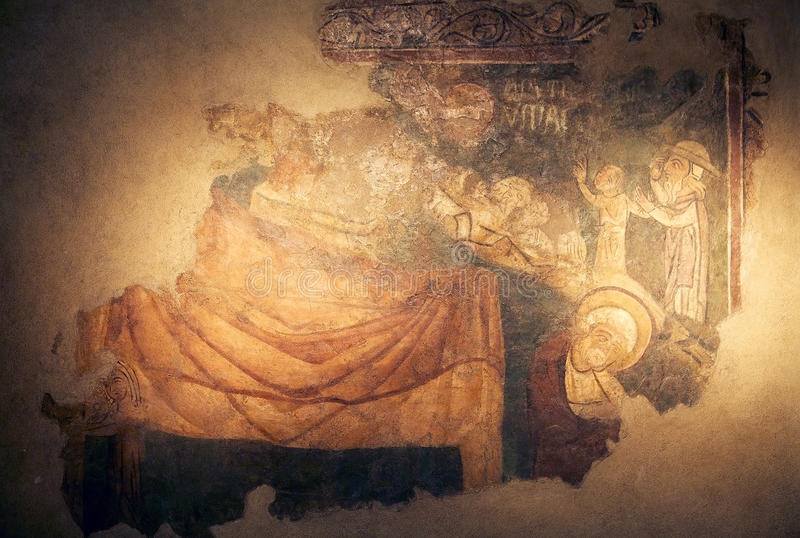 Собор Святого Rufino, Assisi, Италии стоковая фотография rf