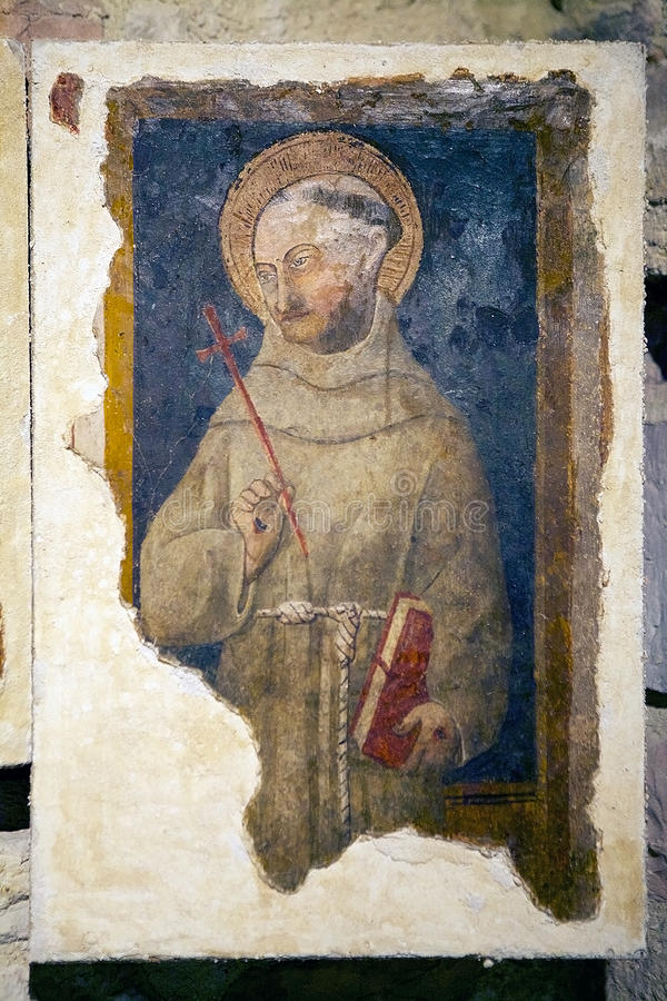 Собор Святого Rufino, Assisi, Италии стоковые изображения rf