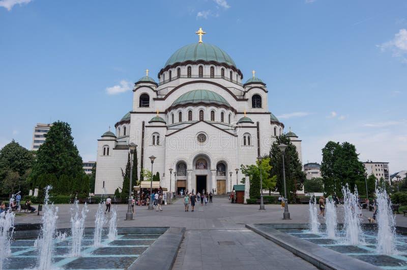 Собор Святого Sava, Белграда, Сербии стоковое фото