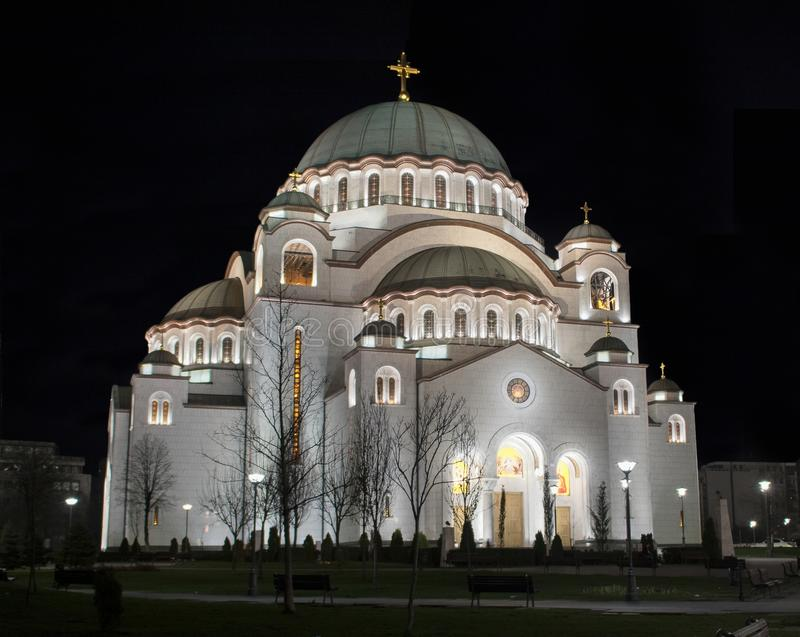 Собор Святого Sava в Белграде, Сербии стоковое изображение