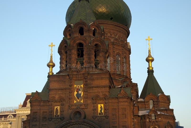 Собор святой премудрости собора Sophia бога или Святого в русском стиле стоковое фото