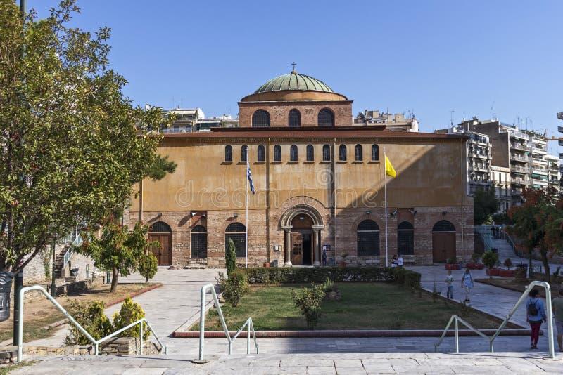 Собор Святой Софии в Салониках, Греция стоковые изображения