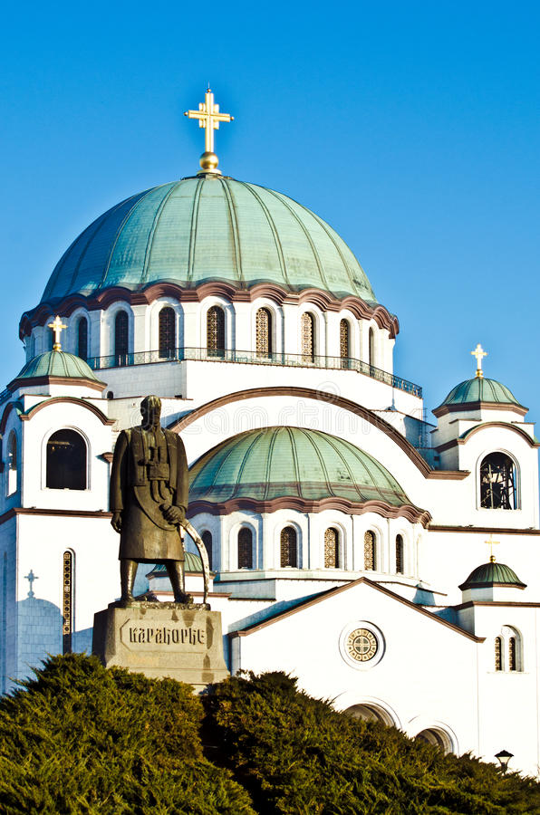 Собор святой Sava стоковая фотография rf
