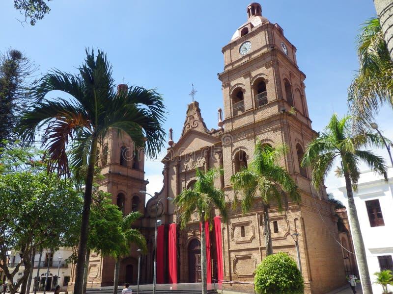 Собор Св. Лаврентия в Santa Cruz, Боливии стоковые фотографии rf