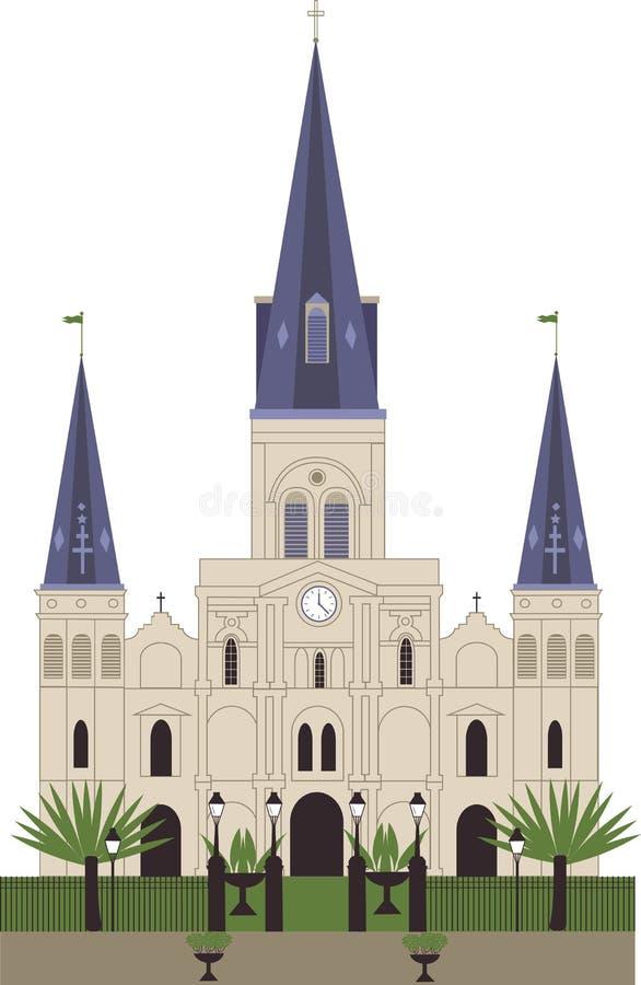 Собор Сент-Луис иллюстрация вектора