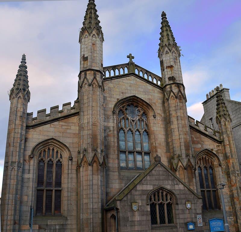 Собор Сент-Эндрюса епископский, Абердин, Шотландия стоковые фото