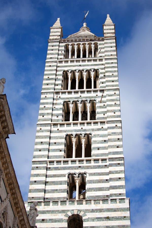 Собор Сиены в Тоскане, Италии стоковое фото rf