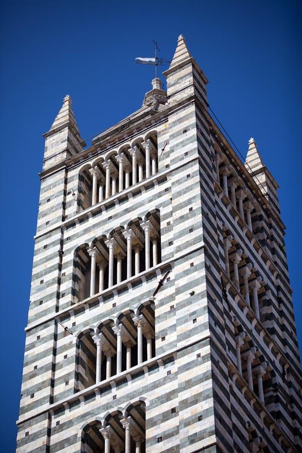 Собор Сиены в Тоскане, Италии стоковые фотографии rf