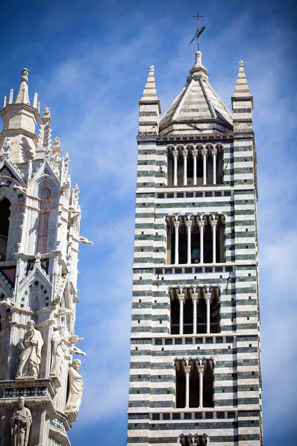 Собор Сиены в Тоскане, Италии стоковые изображения