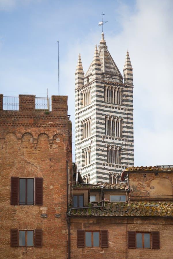 Собор Сиены в Тоскане, Италии стоковое изображение